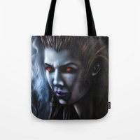 starcraft Tote Bags featuring Kerrigan  by Kanelov