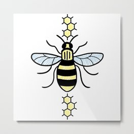 Manchester Bee for Charity Metal Print