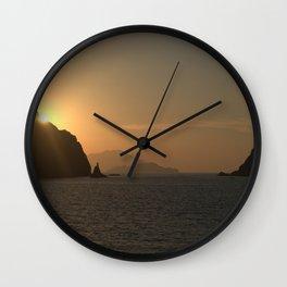 Sunset on Milos - Ellie Wen Wall Clock
