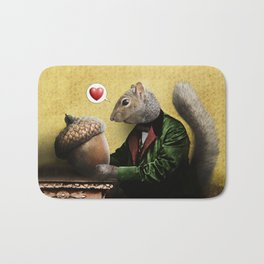 Mr. Squirrel Loves His Acorn! Bath Mat