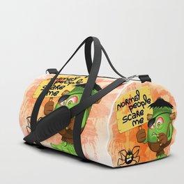 'Normal People Scare Me' Humorous Frankenstein Character Duffle Bag