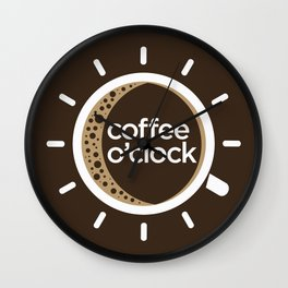 Coffee o'clock Wall Clock