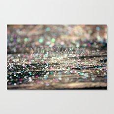 Glitter is a Girl's Best Friend Canvas Print