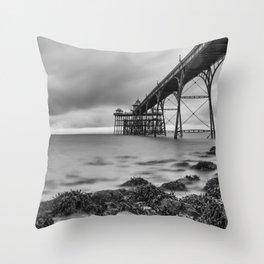 Clevedon Pier Throw Pillow