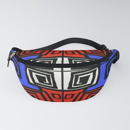 Blue & Red Fanny Pack