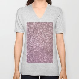 Rose pink abstract geometrical polka dots texture Unisex V-Neck