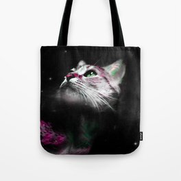 Supernova of the Ethereal Cat Tote Bag