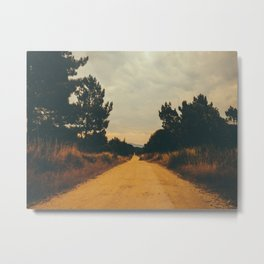 Vintage Faded Dusty Country Dirt Road Metal Print