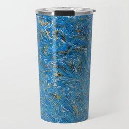 Cobalt and Gold Travel Mug