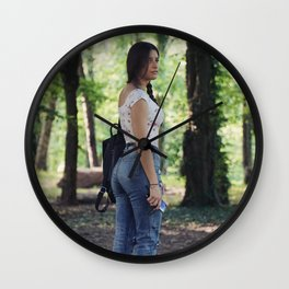 Alone in the wood Wall Clock