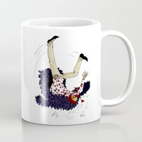 one piece Mugs featuring Stumbling down - One Piece by Tarn