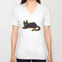 kiki V-neck T-shirts featuring Kiki by StickyHunter