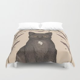The Cat and Lavender Duvet Cover