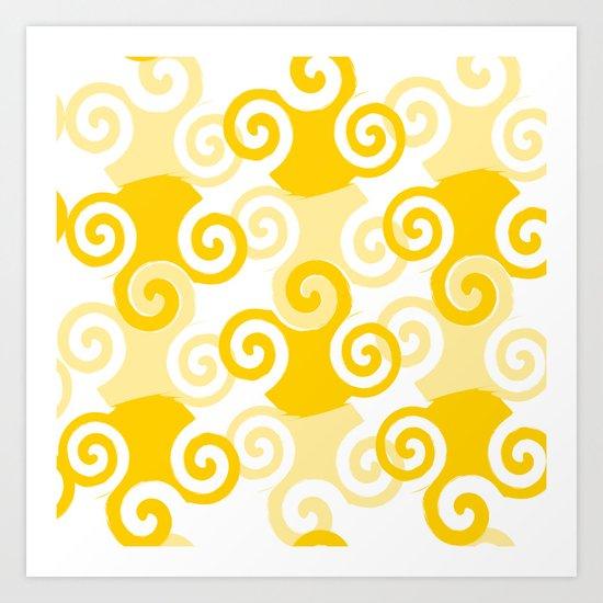 Swirled Art Print