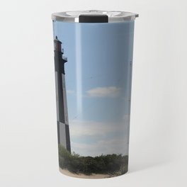 Short And Tall Cape Henry Lights Travel Mug