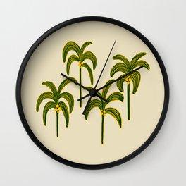 Kalahari Palms by Veronique de Jong Wall Clock