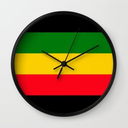 Rastafarian Colors Wall Clock