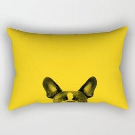James: Bat Ears Yellow Rectangular Pillow