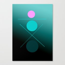 The 3 dots, power game 14 Canvas Print