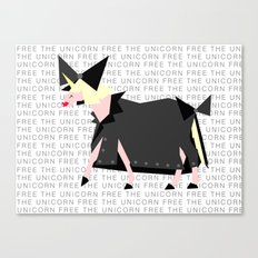 Free The Unicorn Canvas Print