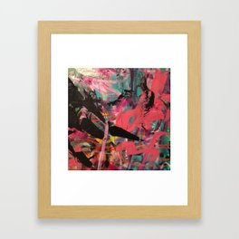 Bold Mark Making in Acrylic - Fifth in Series Framed Art Print