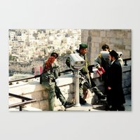 religious Canvas Prints featuring Religious Wars by KattSnaps