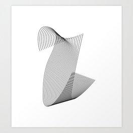 """Linear Collection"" - Minimal Letter U Print Art Print"