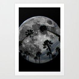 Lunar Palm Trees Art Print