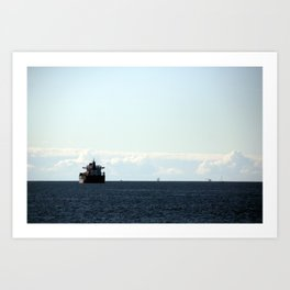 leaving port Art Print