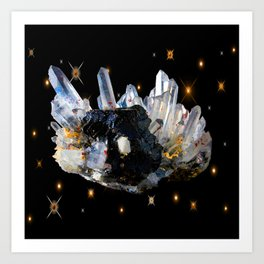 Star Aura Quartz Art Print