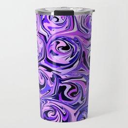 Violet and Lilac Paint Swirls Travel Mug