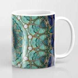 Majestic Topaz Ocean Kaleidoscope Coffee Mug