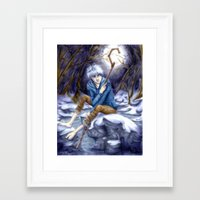 jack frost Framed Art Prints featuring Jack Frost by MissKerrieJ