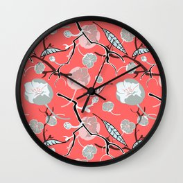 Blossoming cherry branch Wall Clock