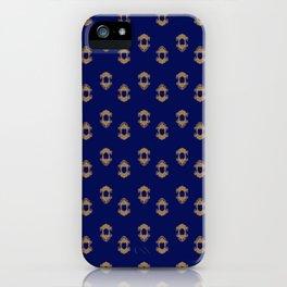 Kingly Design Gold on Royal Blue iPhone Case
