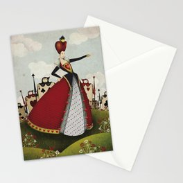 Off with their heads Queen of hearts from Alice in Wonderland Stationery Cards