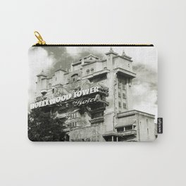 Haunted Hotel Architecture Closeup Antiqued Carry-All Pouch