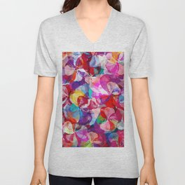 Flower carpet(57) Unisex V-Neck