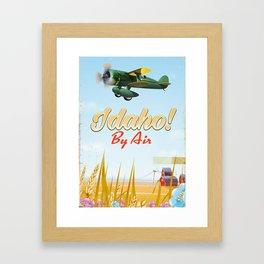 Idaho! By air Poster Framed Art Print