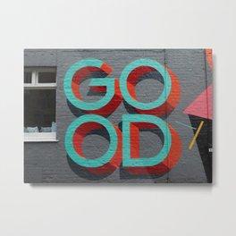 Good typography on a wall Metal Print