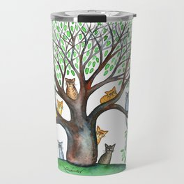 Cheyenne Whimsical Cats in Tree Travel Mug