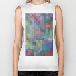 Abstract pixel pattern Biker Tank