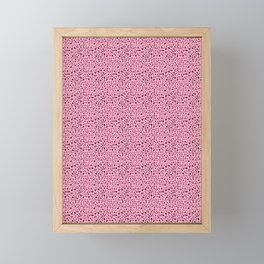 Spots black / pink pattern Framed Mini Art Print
