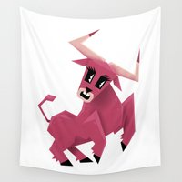 taurus Wall Tapestries featuring Taurus! by Yetiland