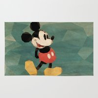 mickey Area & Throw Rugs featuring Mr. Mickey Mouse by Ed Burczyk