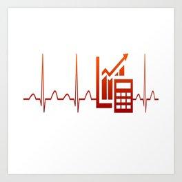 ACCOUNTANT HEARTBEAT Art Print