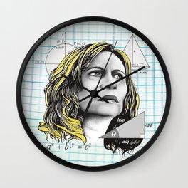 Nazaré Tedesco – Math Lady / Confused Blonde Meme Wall Clock