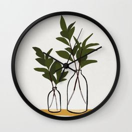 Branches & Bottles Wall Clock