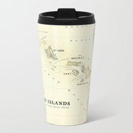 Hawaiian Islands [vintage inspired] map print Travel Mug
