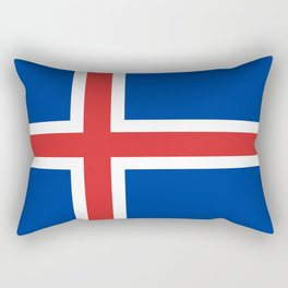 Flag of Iceland - High Quality Image Rectangular Pillow